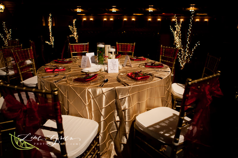winter wedding red gold