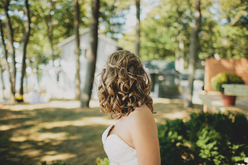 unique wedding hair styles, waterfall braid
