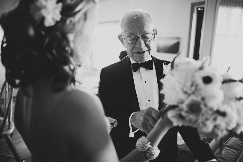 grandfather with bride