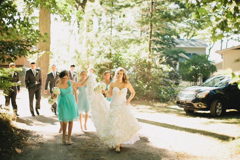 sea glass bridesmaid dresses