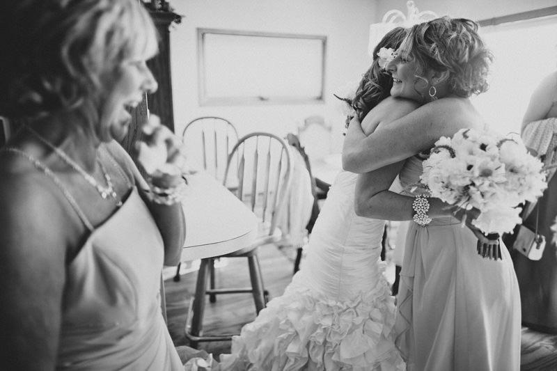 bride hugging moh