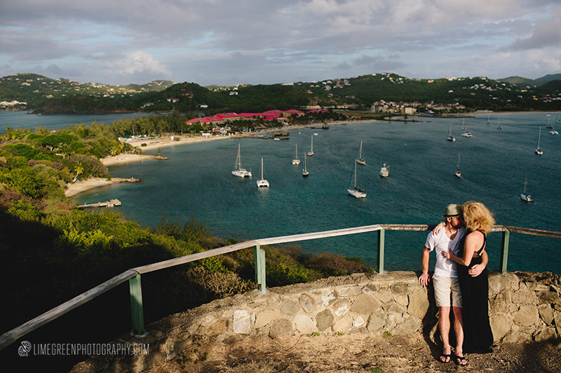 pigeon island wedding photos