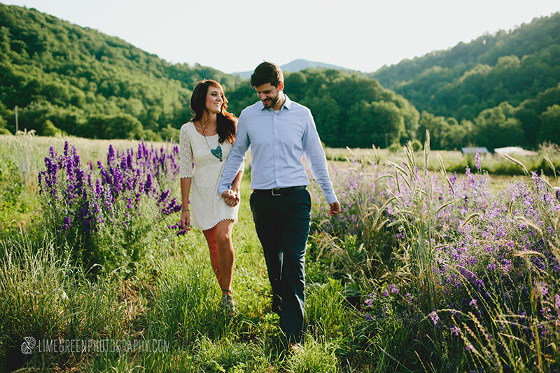 flower farm engagement photos asheville