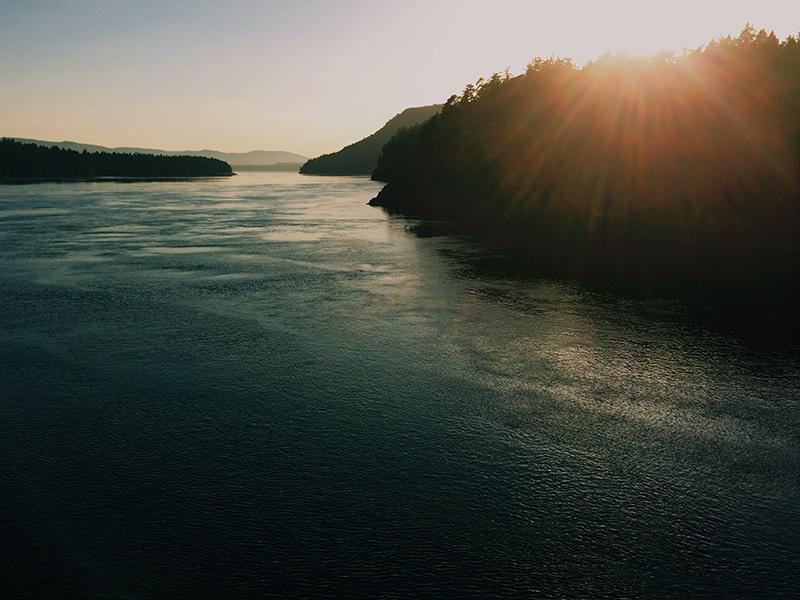 victoria ferry sunset