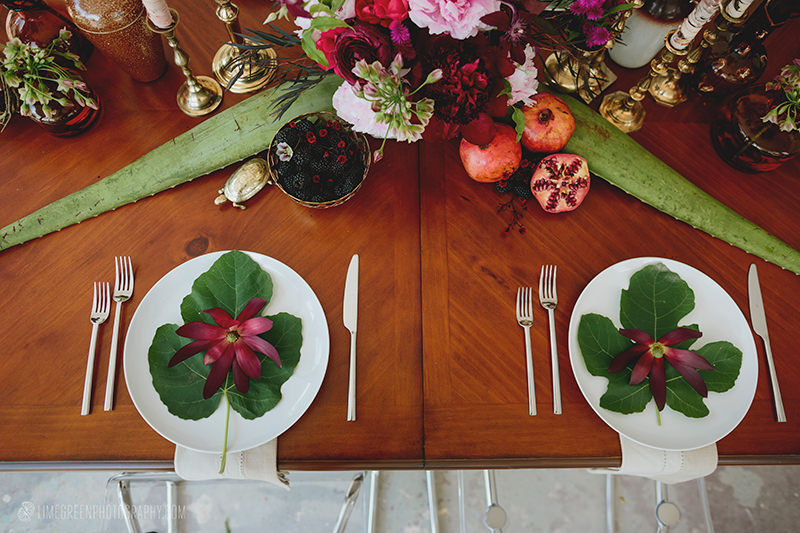 fig leaves wedding inspiration