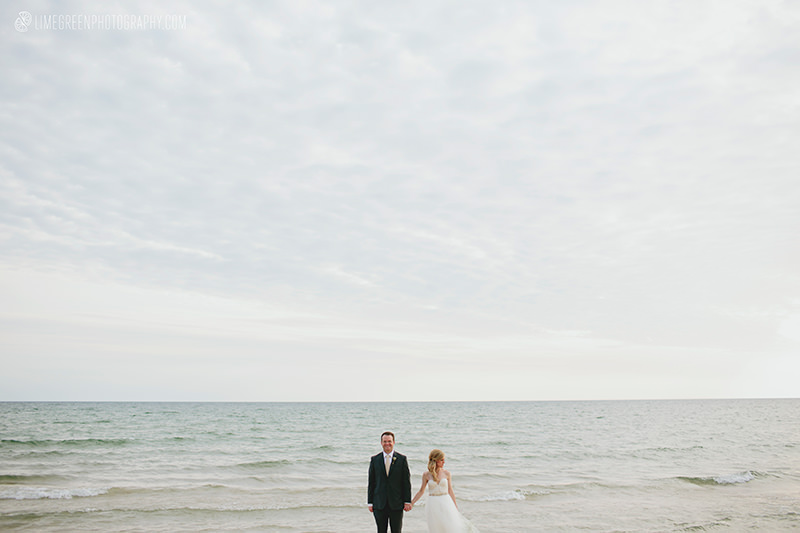 north Michigan beach wedding