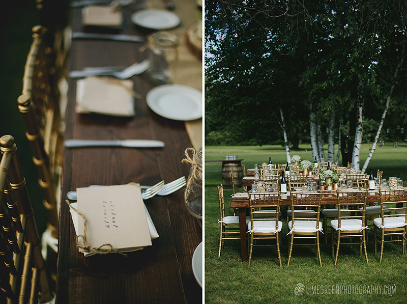 farm table outdoor reception