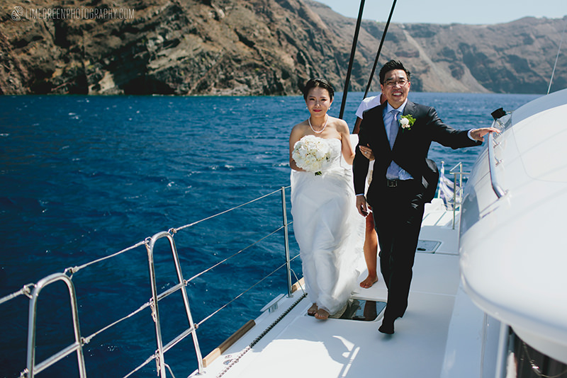greece weddings on a yacht
