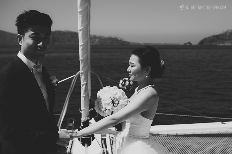 greece wedding on a boat