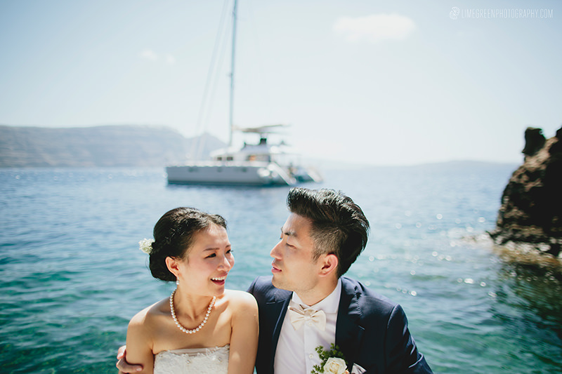 santorini yacht weddings