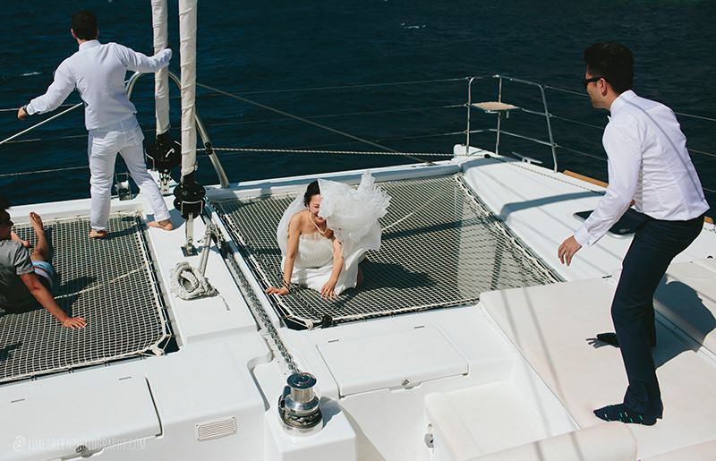 greek boat weddings