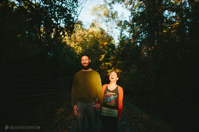 asheville fall engagement photos