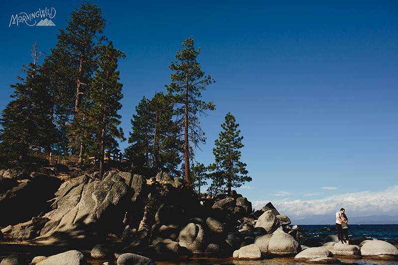 lake tahoe state park wedding photos