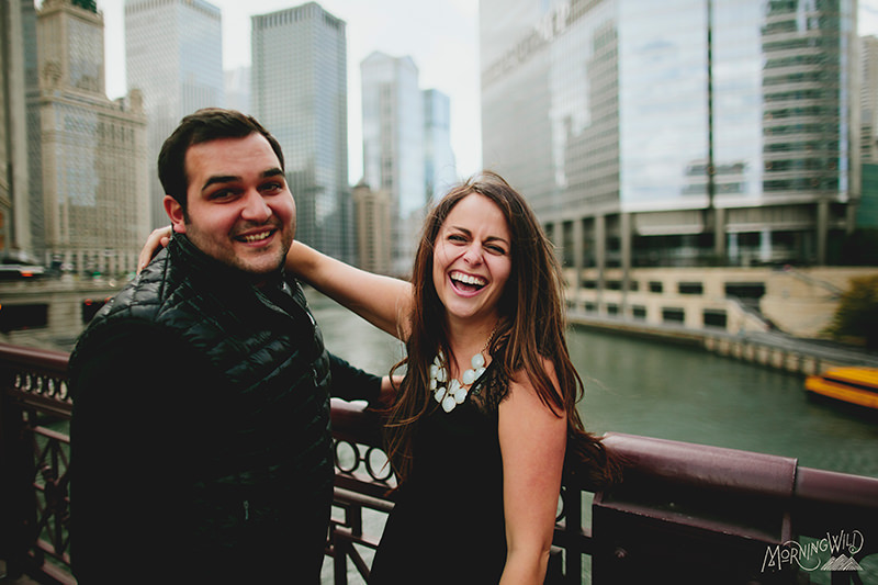 chicago downtown engagement photos