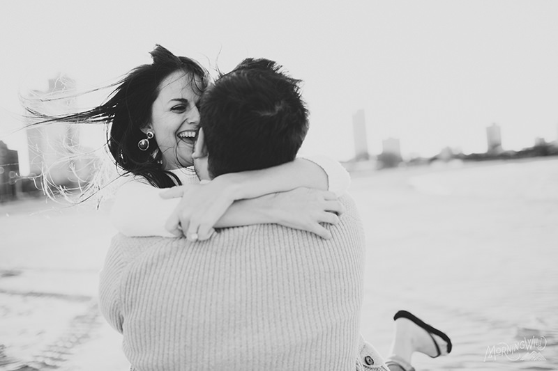 waterfront chicago engagement