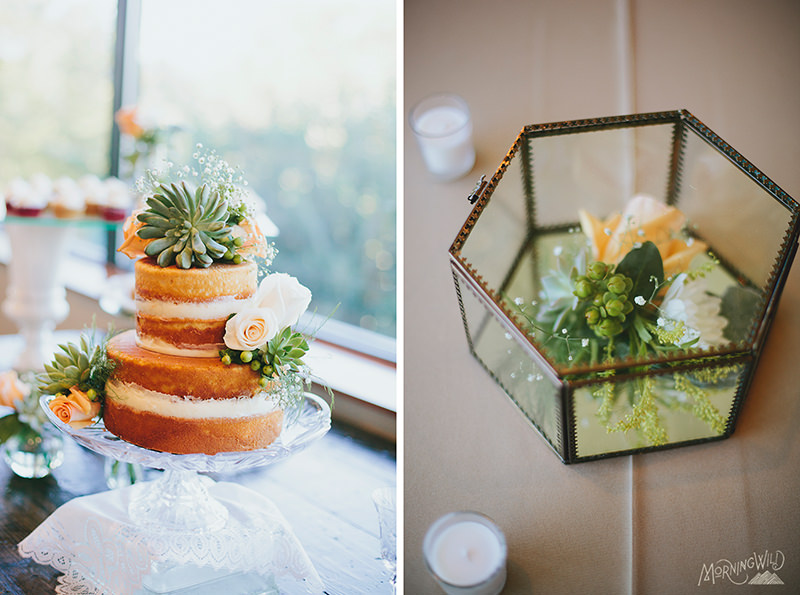 vintage succulent wedding
