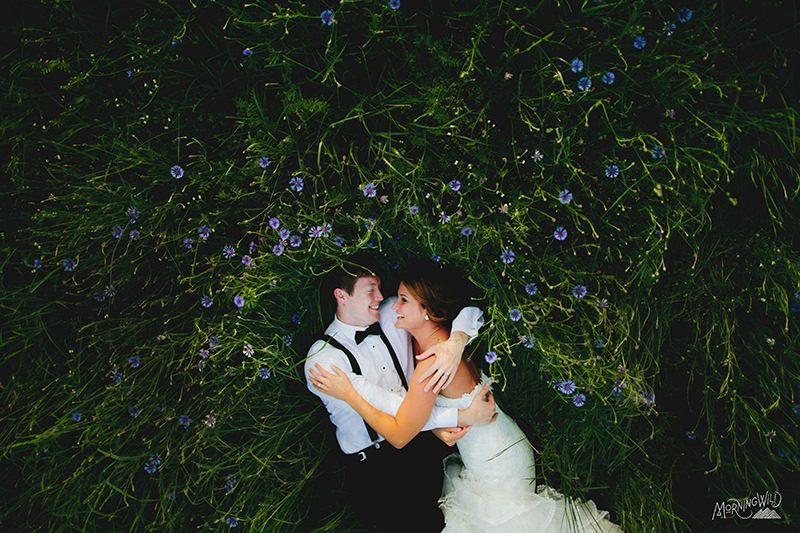 charlotte wedding photos field