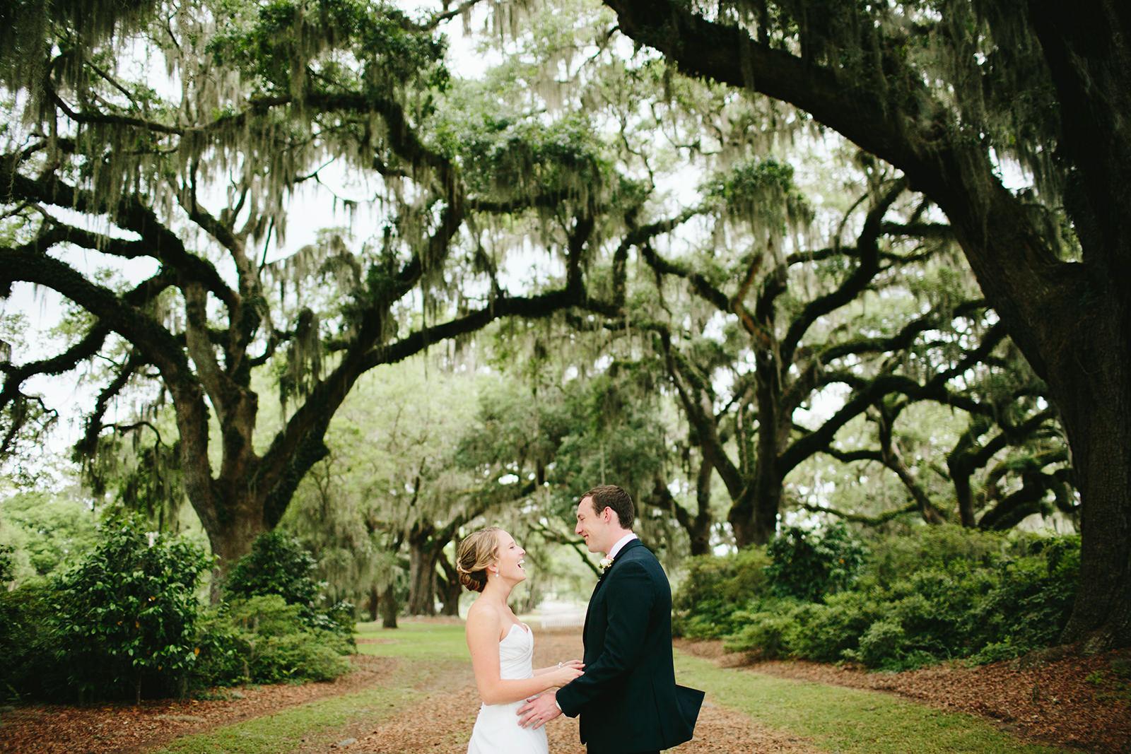 cypress trees plantation wedding