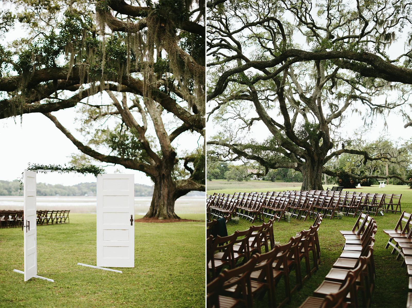 cypress trees plantation weddings