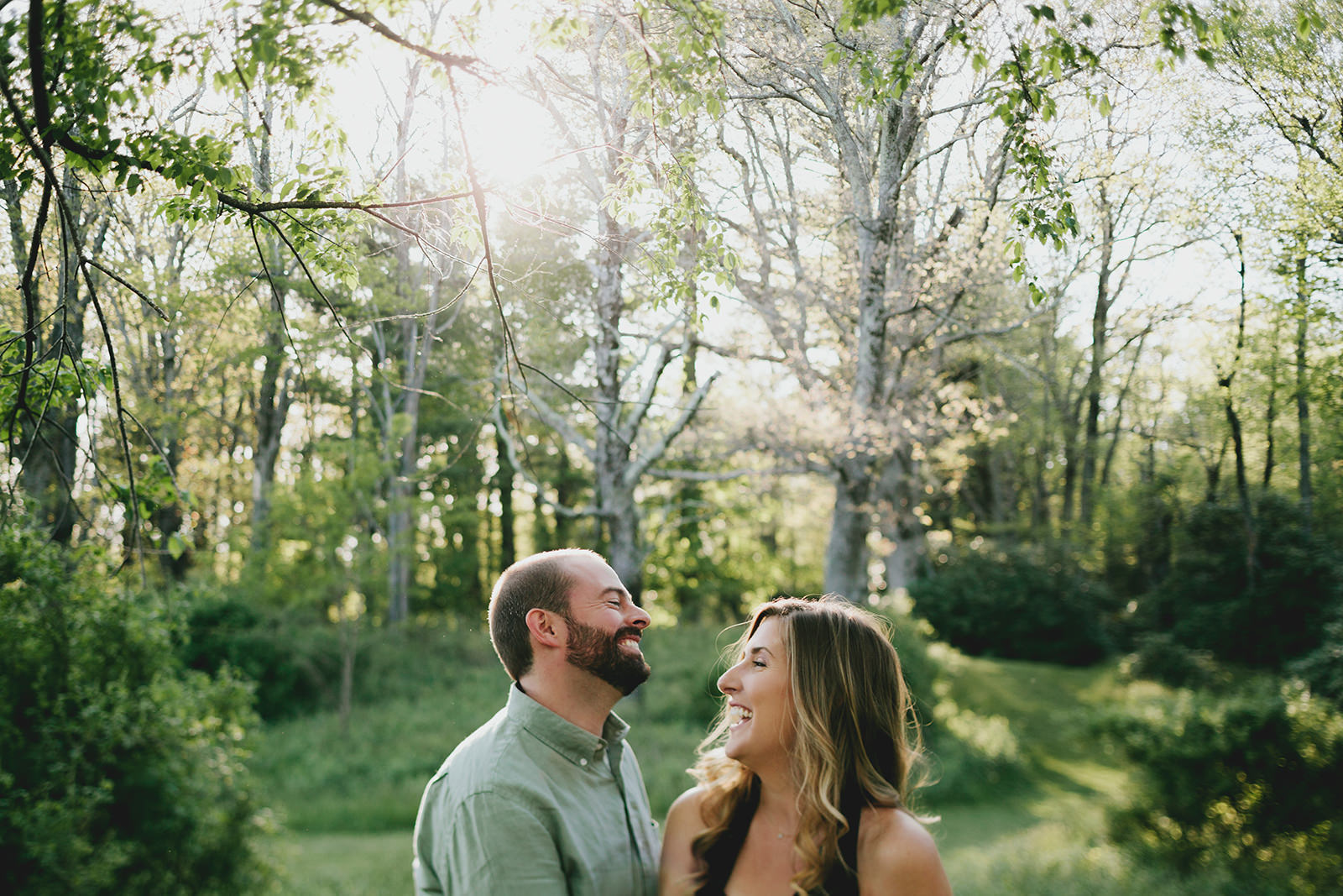 spring engagement photos in boone