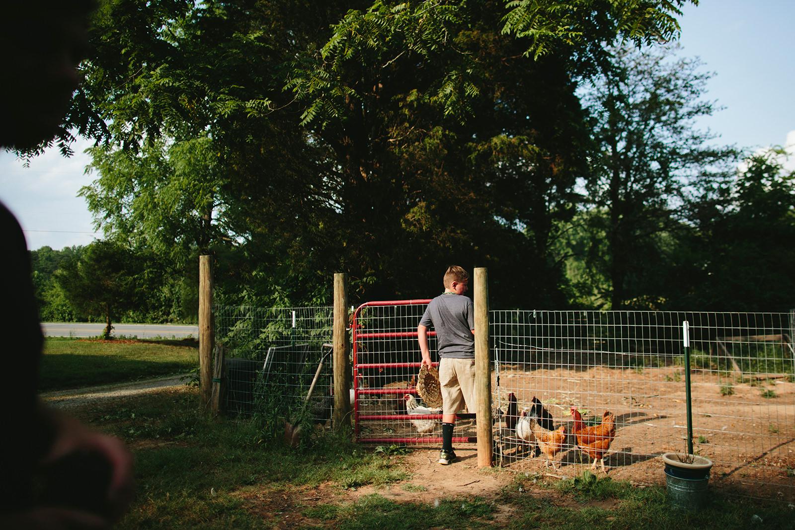 documentary family photos on a farm