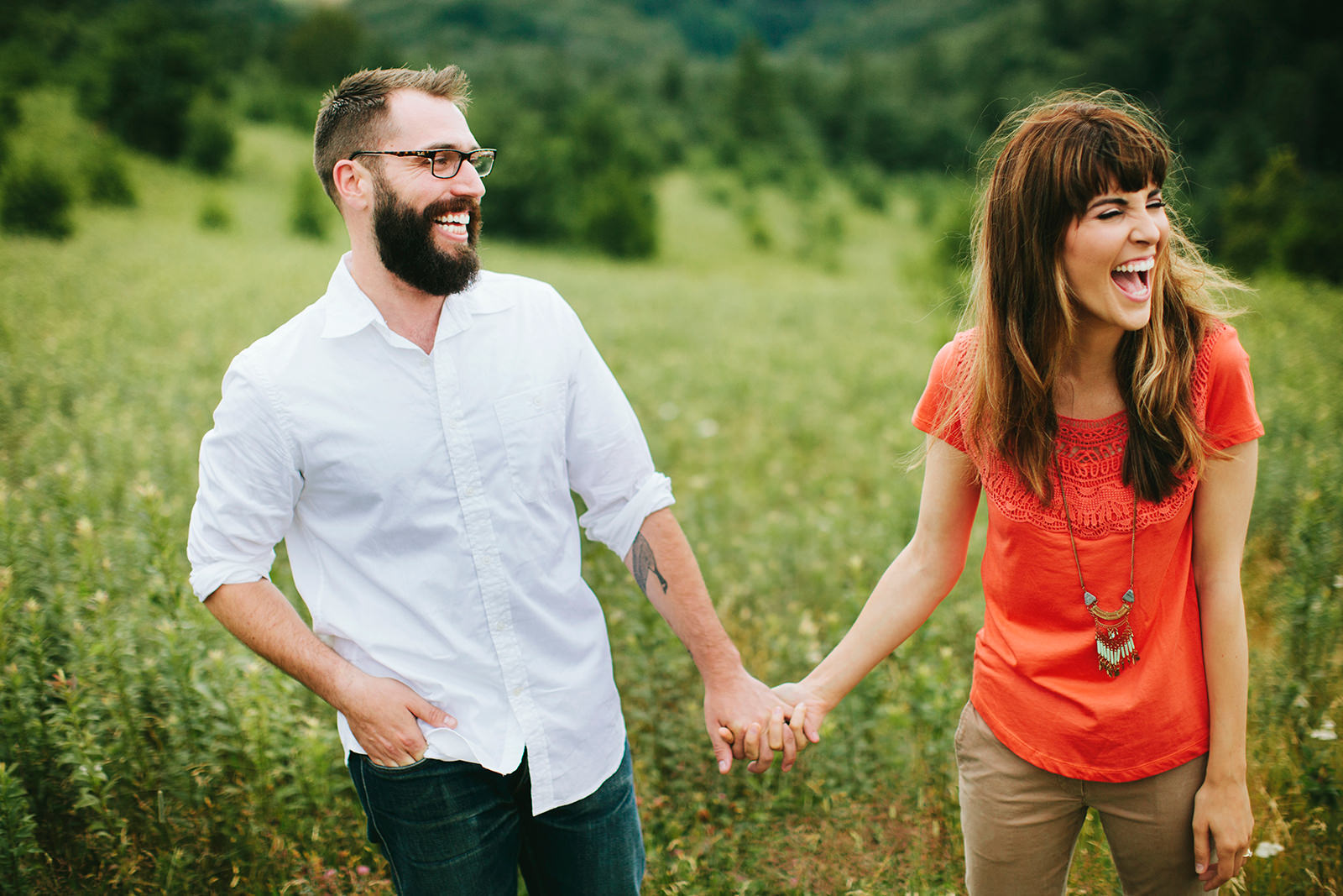 engagement photos in boone