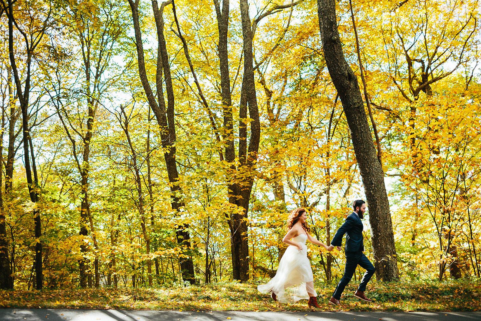 asheville fall wedding photos