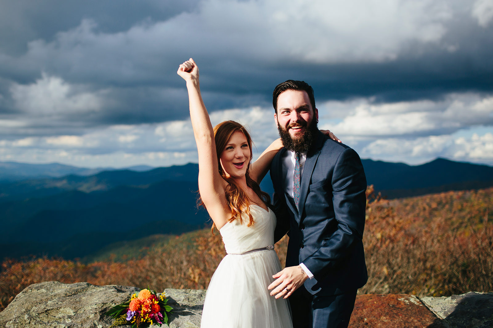 fall weddings in the mountains
