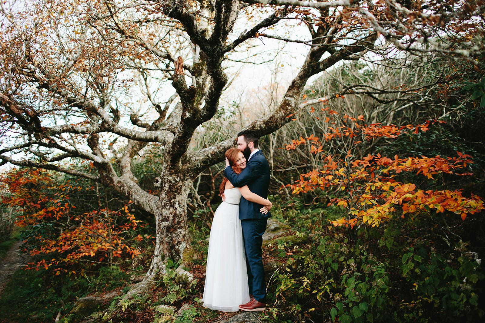 craggy gardens fall wedding