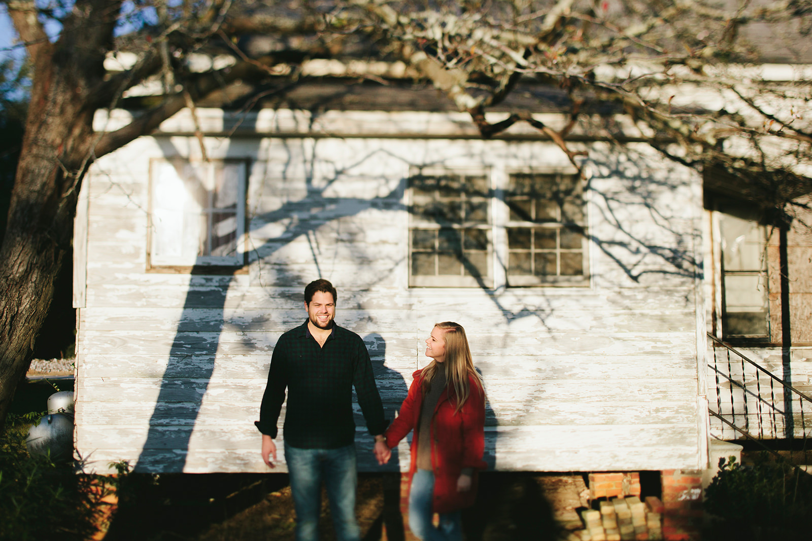 old farmhouse engagement photos