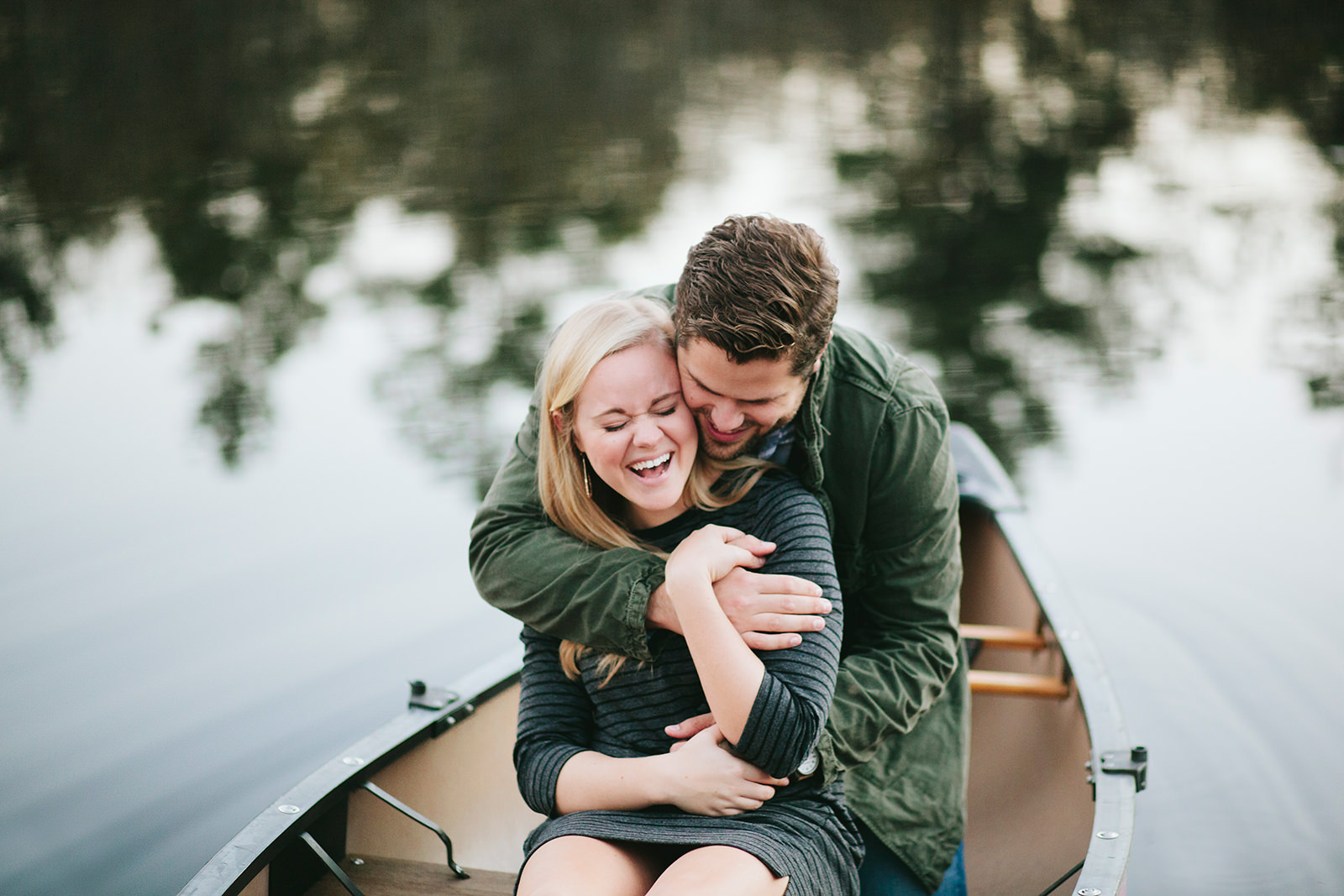 canoe engagement photos south carolina