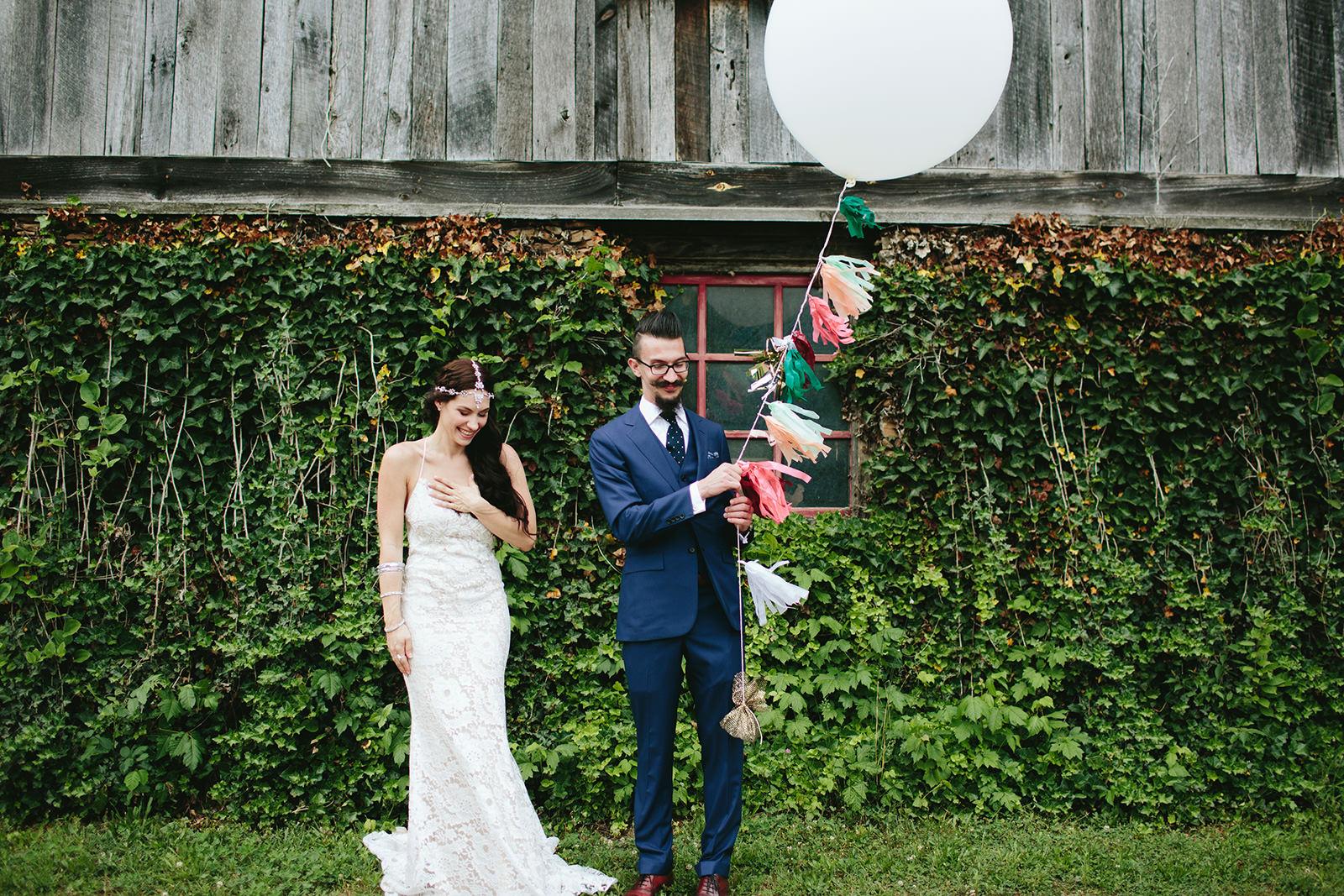 large balloons wedding