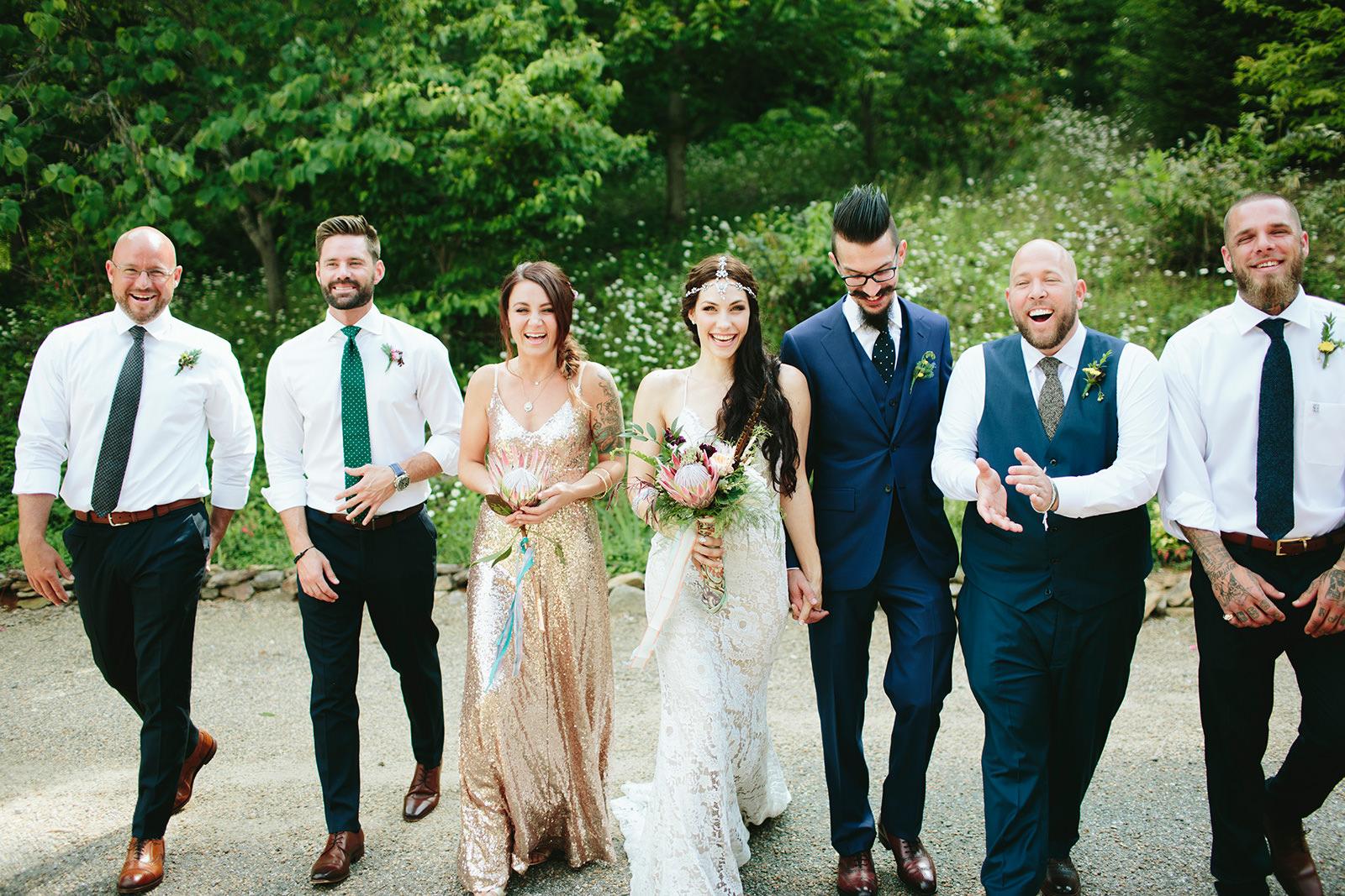gold boho wedding