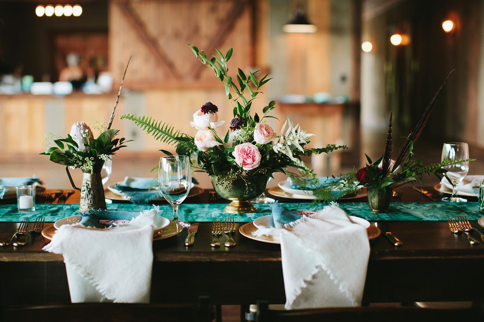 boho colorful wedding asheville