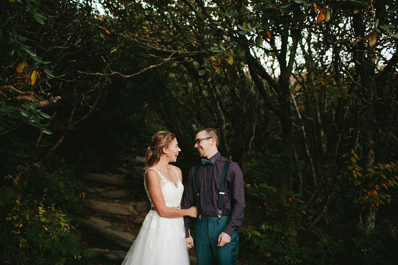 craggy gardens elopement photos