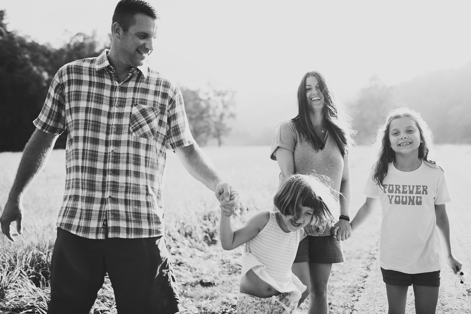 real life family session cataloochee valley