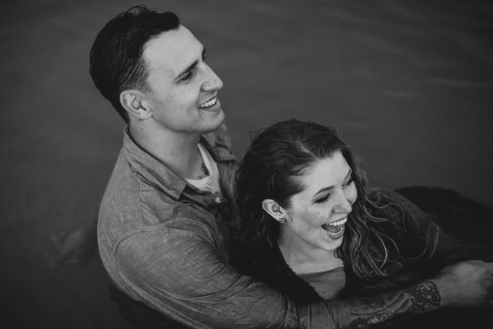 lake michigan engagement photos