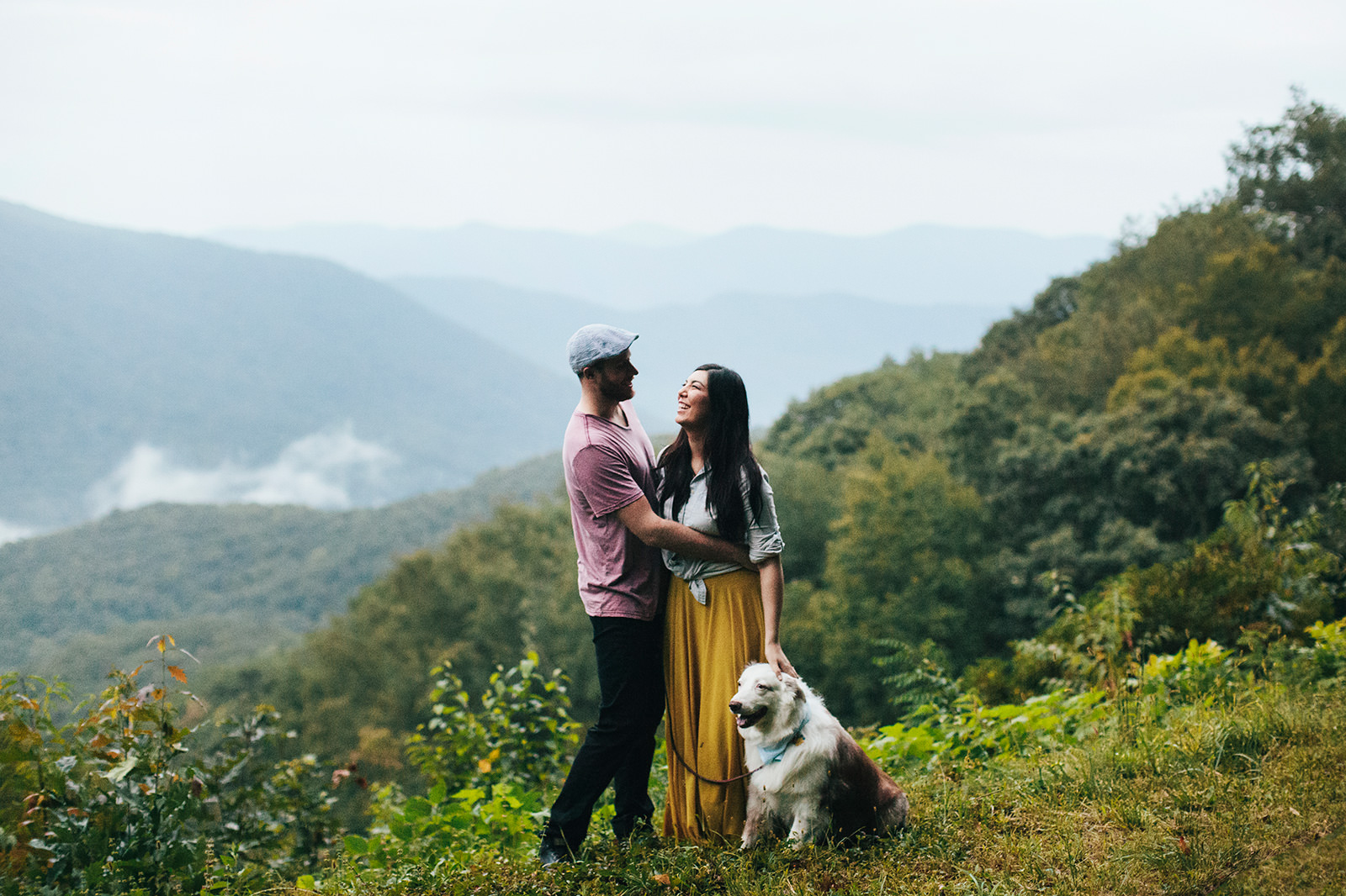 blue ridge mountain wedding photos