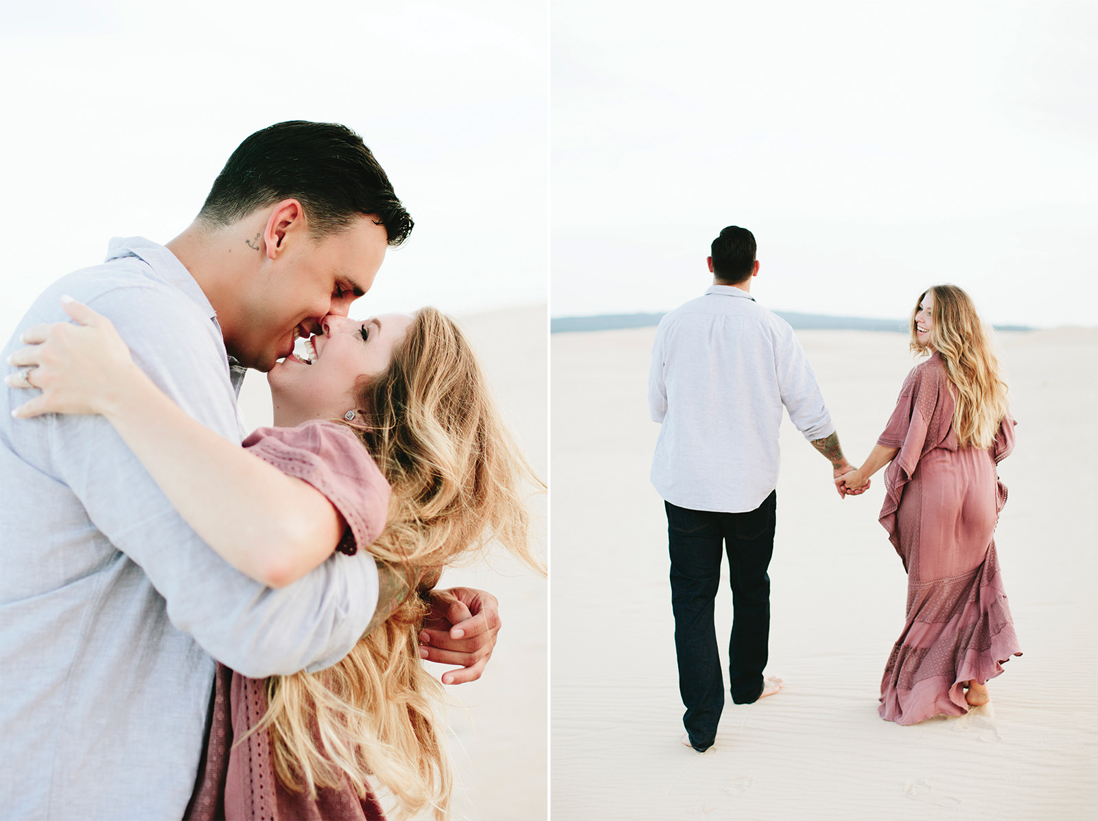 silver lake sand dunes engagement photos