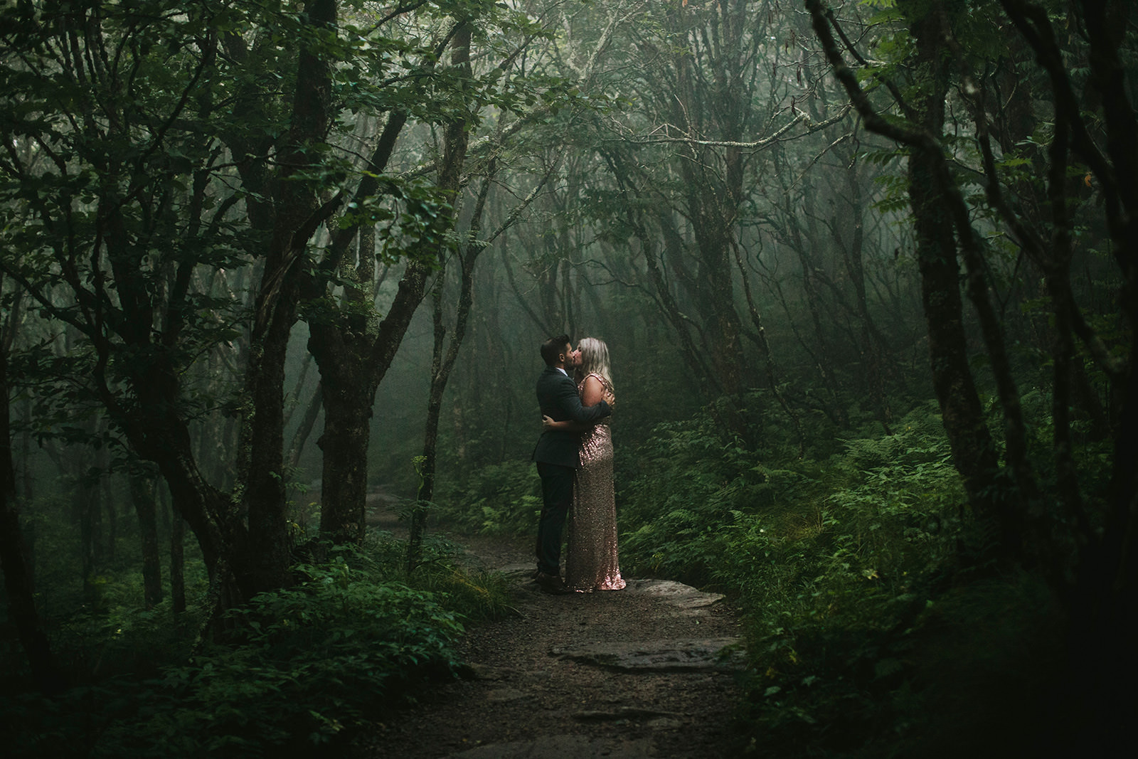 foggy elopement craggy gardens