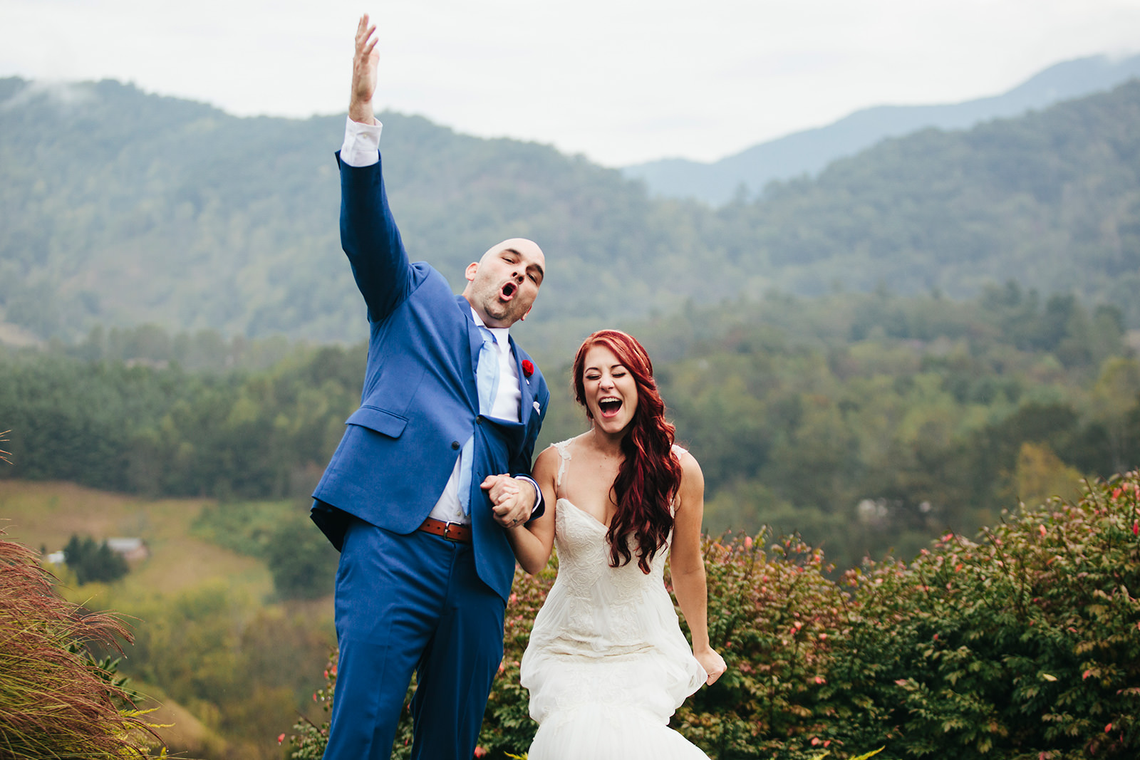 asheville elopements mountain views