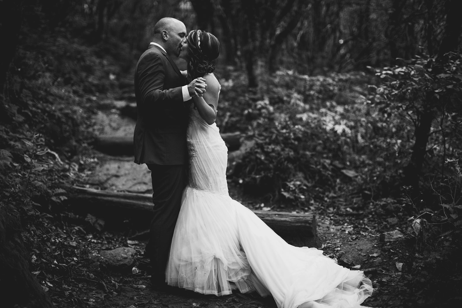 rainy elopement at craggy gardens