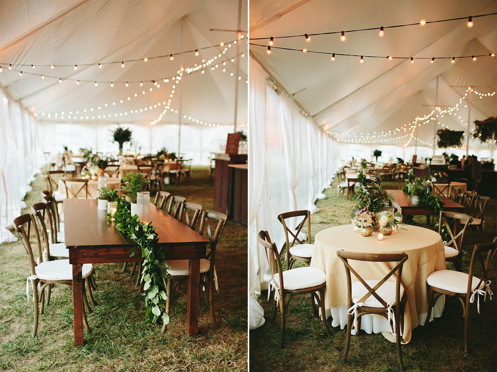 claxton farm tented wedding