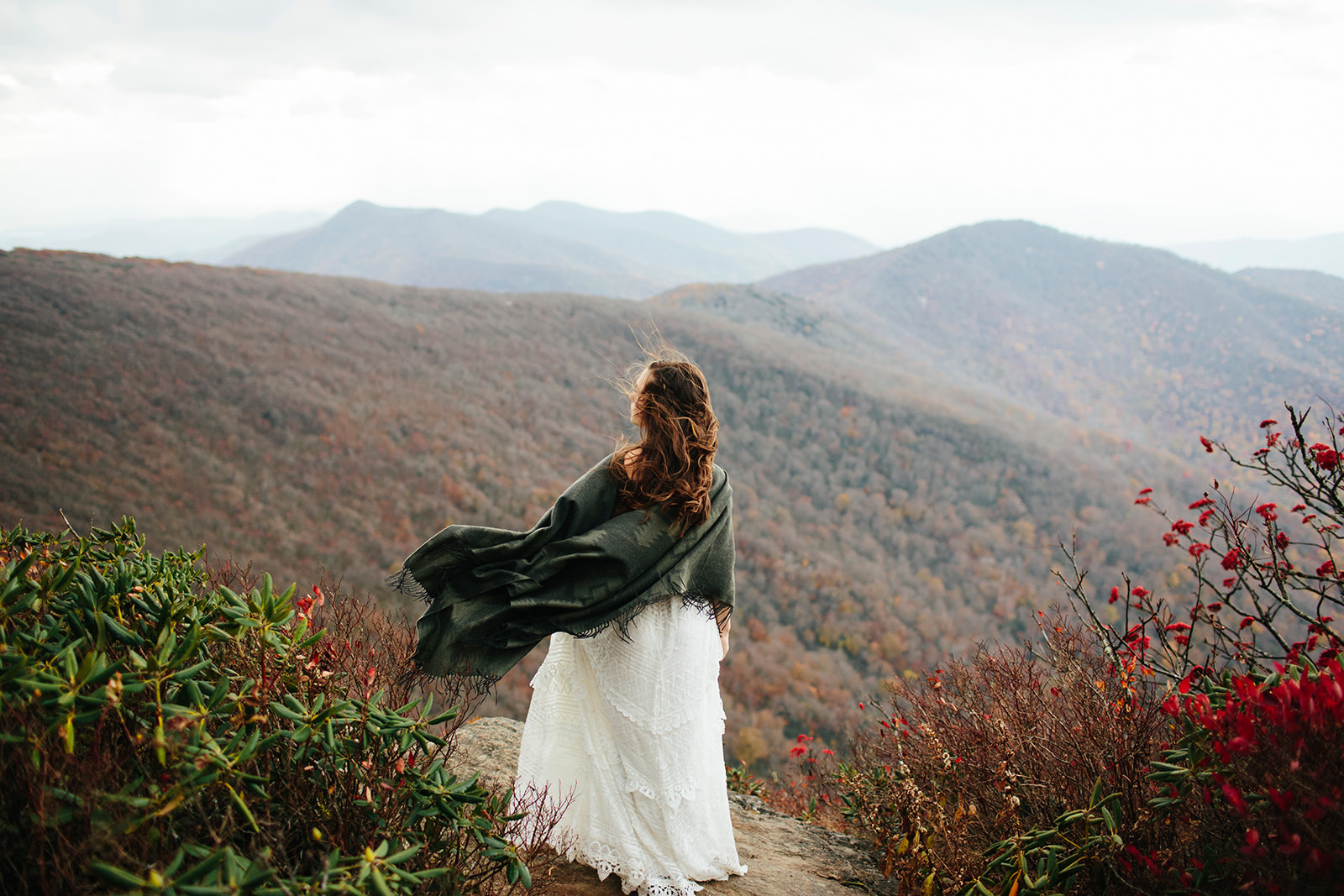 craggy gardens fall elopement photos