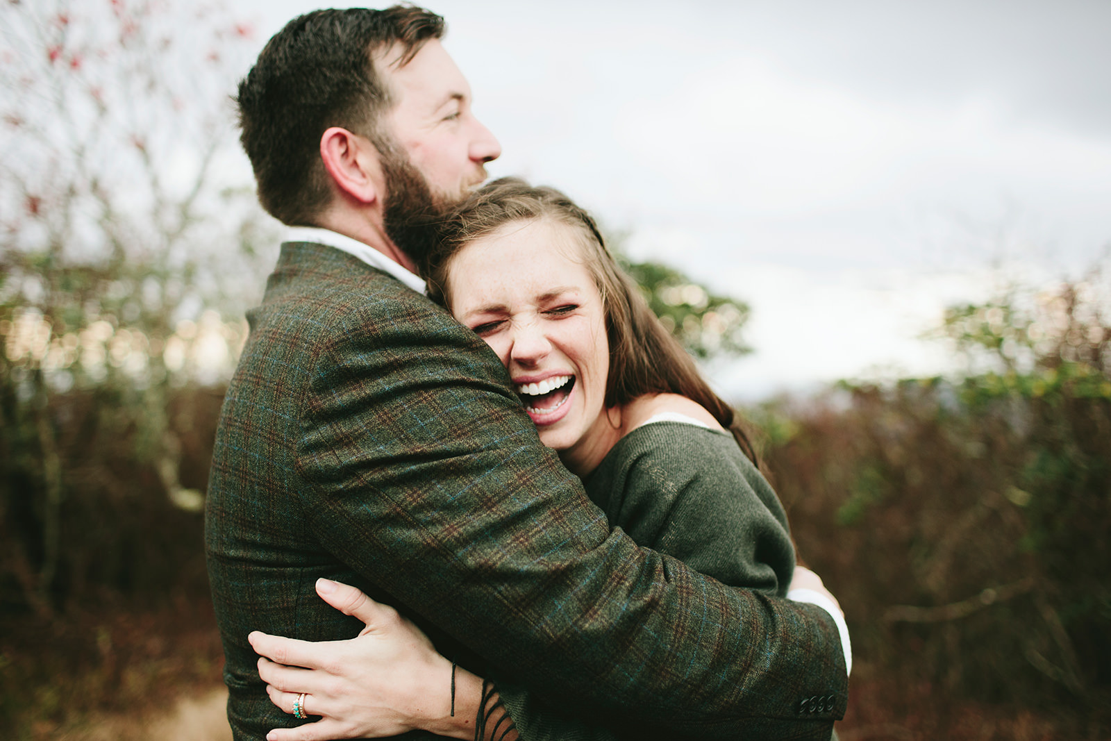 craggy gardens engagement session
