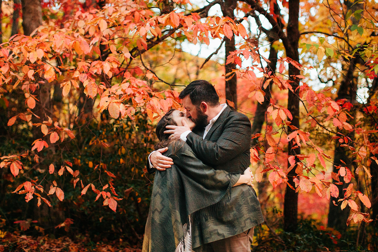 fall elopements in asheville photos