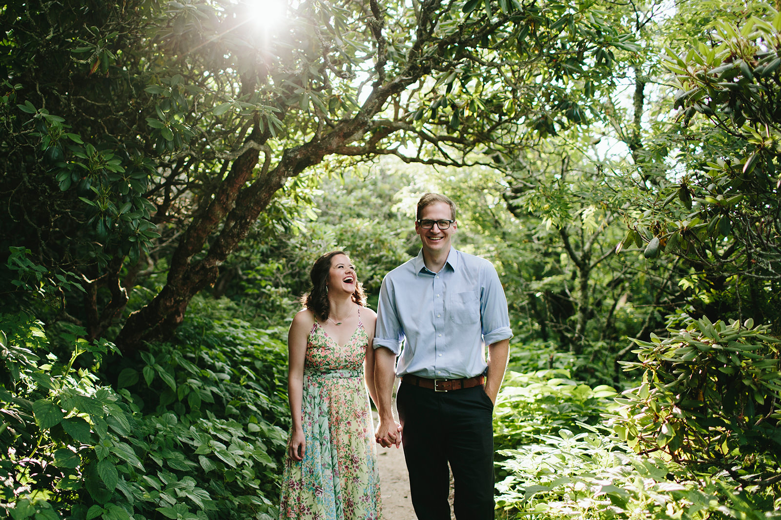 craggy gardens engagement photos