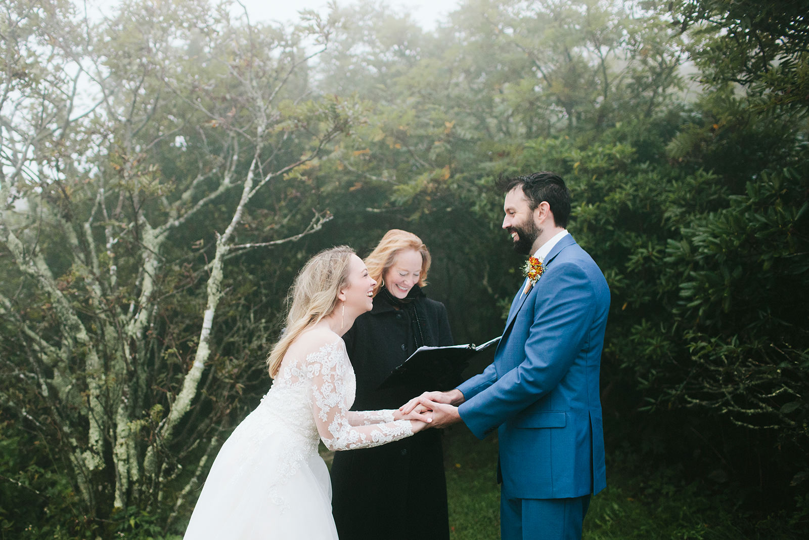 foggy elopement photos asheville