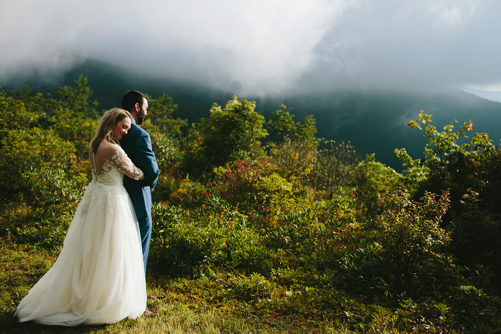 foggy elopement asheville