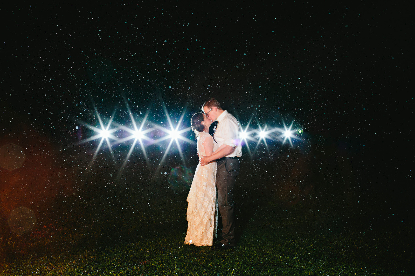 long exposure wedding photos
